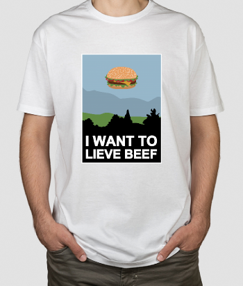 Camiseta I want to lieve beef