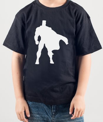 Kinder T-Shirt Superman Silhouette