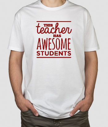 Camiseta con mensaje This teacher