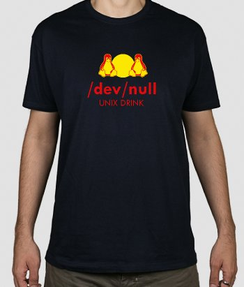 T-shirt Divertida Dev Null