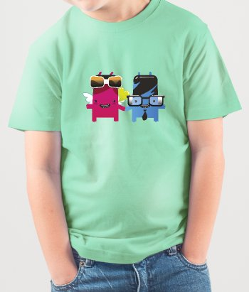 Camiseta geeks monstruos