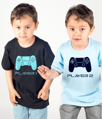 Camiseta dúo gamers