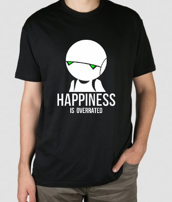 Camiseta Happiness is overrated