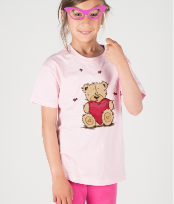 T-shirt bambini peluche con amore
