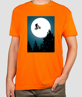 Camiseta divertida ET el mountainbiker