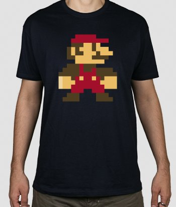 T-shirt retro Supermario 8 bit