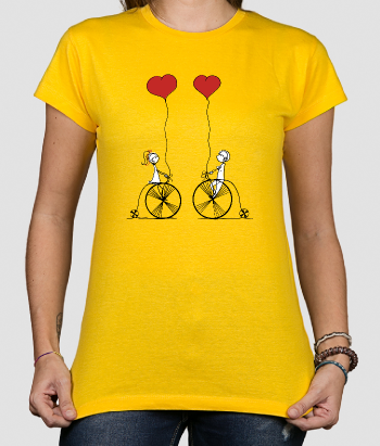 T-shirt original couple vélo