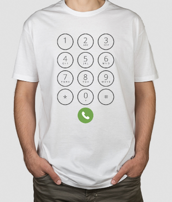 Camiseta iphone botones