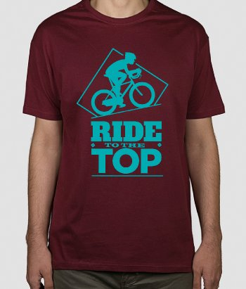 Camiseta bicicleta Ride to the top