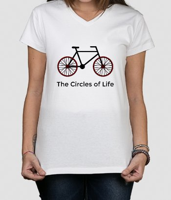 T-shirt fiets Circles of Life
