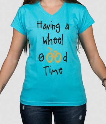 Camiseta con mensaje Wheel good time