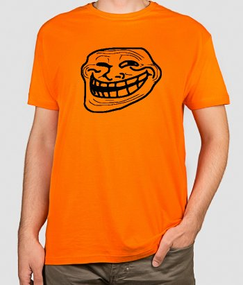 T-shirt geek Troll face