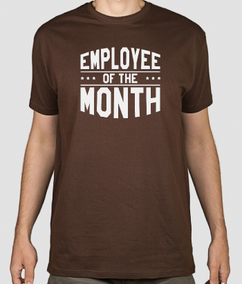 Maglia con scritta Employee of the Month