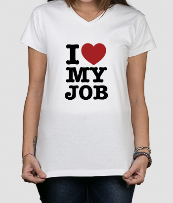 T-shirt tekst I love my Job