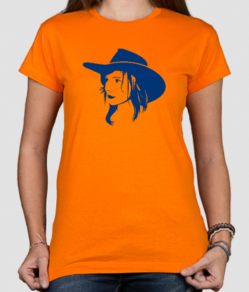 T-shirt ragazza cow-girl