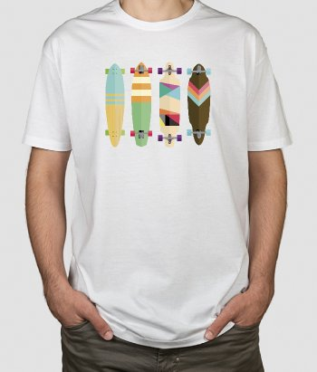 T-shirt collection longboard
