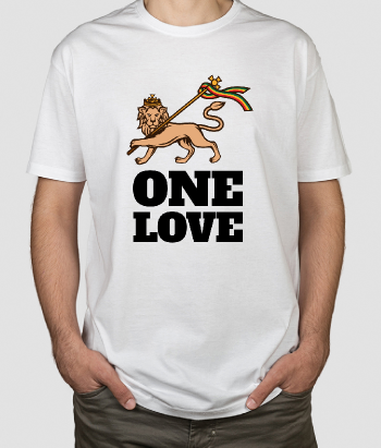T-shirt texte One Love