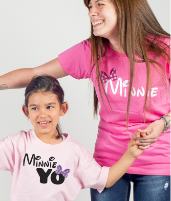 Camiseta madres e hijas Minnie