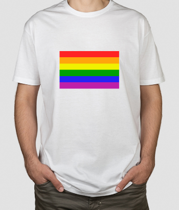 Camiseta bandera gay