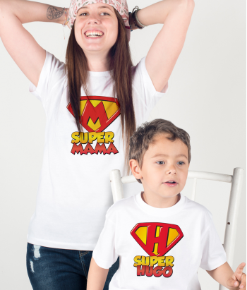 Camiseta dúo personalizable superfamilia
