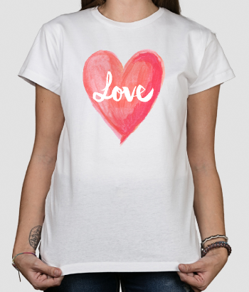 T-shirt Love hart