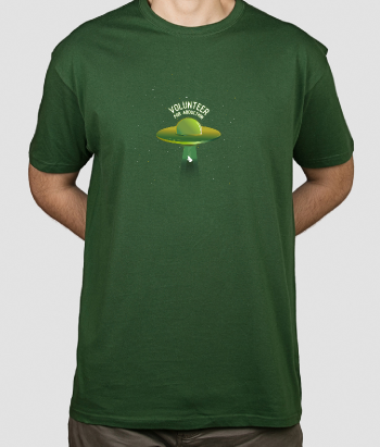 T-shirt alien volunteer