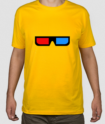 T-shirt Retro 3D bril