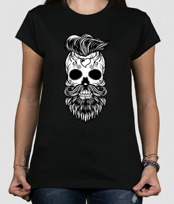 T shirt teschio hipster Messico