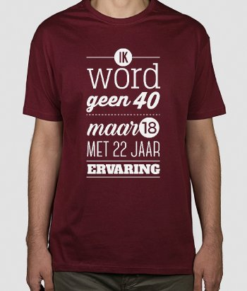 T-shirt ouderdom grappig