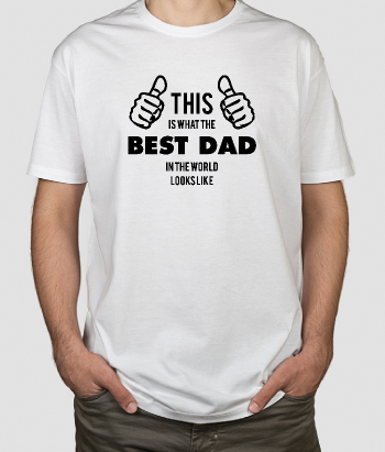 Camiseta día del padre This is best dad