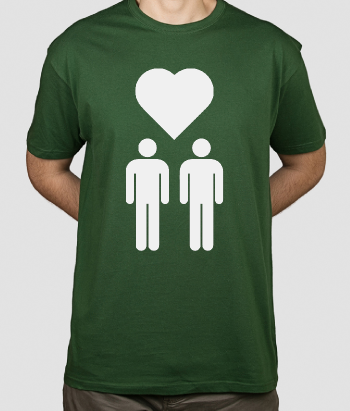Camiseta iconos amor gay