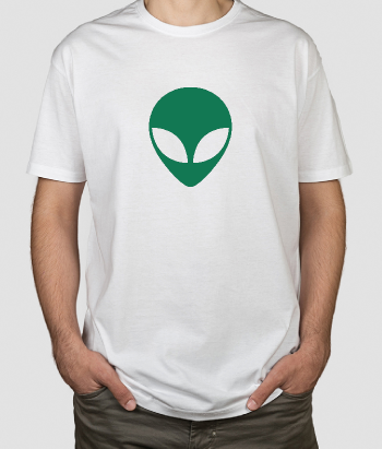T-shirt geek icona extraterrestre