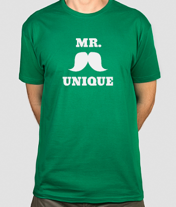 Mr Unique Moustache T-shirt