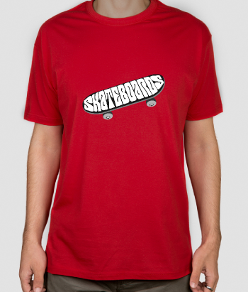T-shirt texte Skateboards