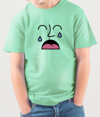 T-shirt huilende smiley