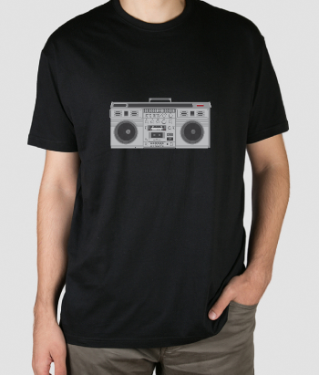 T-shirt Retro Gettoblaster