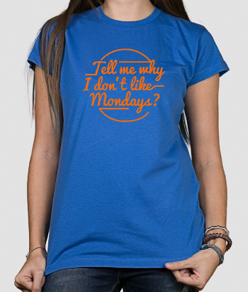 T-shirt muziek dont like Mondays