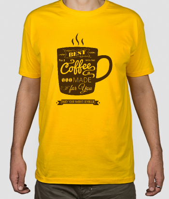 T-shirt scritta the best coffee