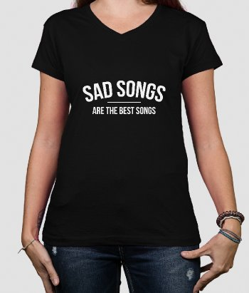 Camiseta con mensaje Sad Songs