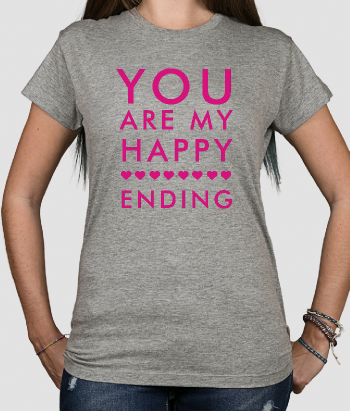 T-shirt scritta You are my happy ending