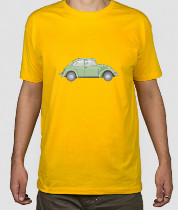 T-shirt retro Beetle verde