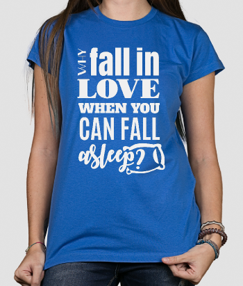 Camiseta con mensaje Fall asleep
