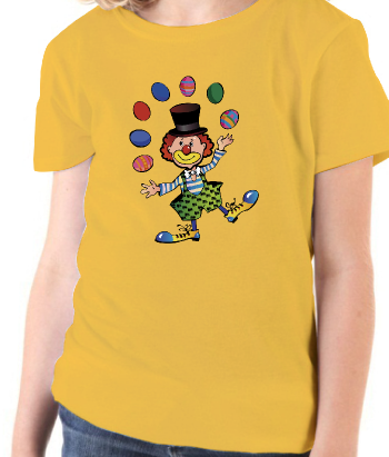 T-shirt kinderen jonglerende clown
