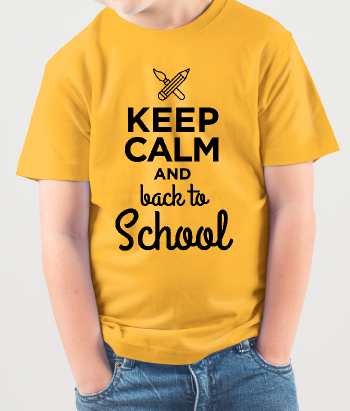 Camiseta Keep Calm Back to School