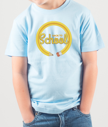 T-shirt kinderen potlood back to school