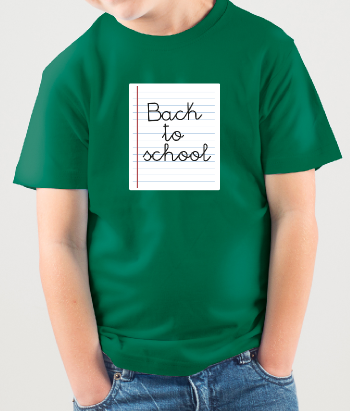T-shirt papier Back to school