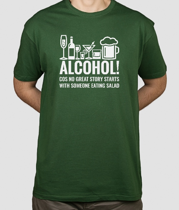 b9a0b8bd3 Camiseta divertida Alcohol Stories - Dezuu