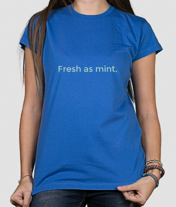 Camiseta con mensaje Fresh as mint