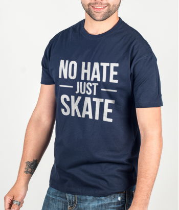 Camiseta skate no hate