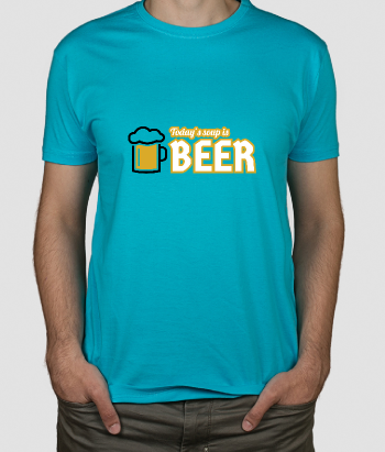 Camiseta divertida Soup is beer